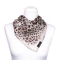 Halstuch aus Seide mit Leopardenprint