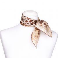 Seidentuch mit braunem Leopardenmuster